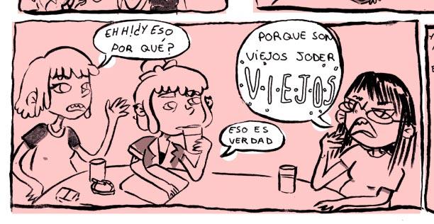 """Hoy he venido de mi casa"", la tira semanal de Oli + Glu en jenesaispop, está llena de verdades.  http://jenesaispop.com/2017/03/23/292821/he-venido-casa-split-los-planetas-yung-beef/"